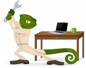 Geeko at work