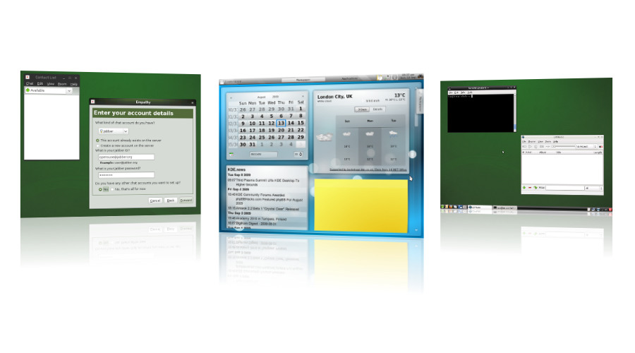 Exiting new features on the Desktops. Including a whole new player: LXDE