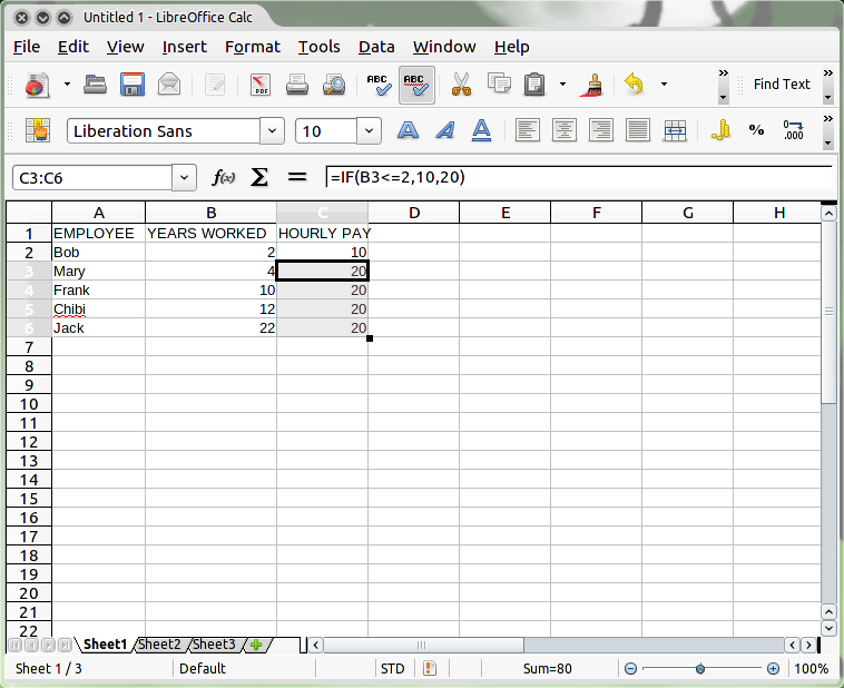 Using Conditional Statements in LibreOffice and OpenOffice org Calc