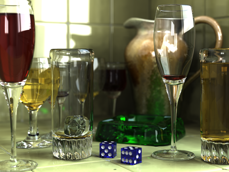 Glasses, created in POV-Ray