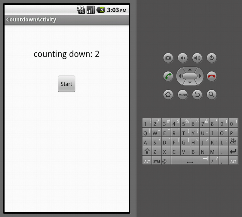 android countdown timer