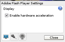 disable hardware acceleration in Flash
