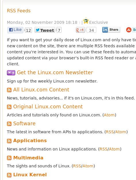 Linux.com RSS feeds