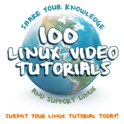 100 Linux tutorial videos campaign - submit today