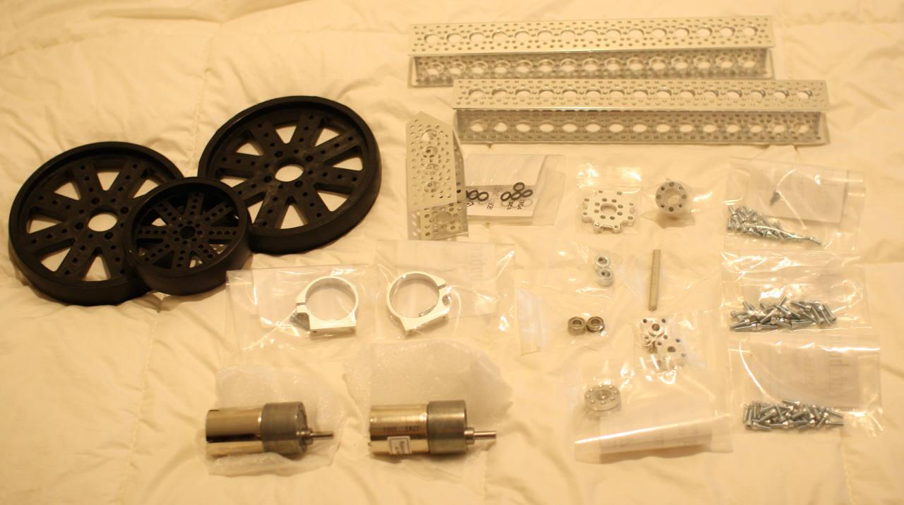 3 wheel robot kit parts