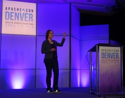 Hilary Mason at ApacheCon in Denver
