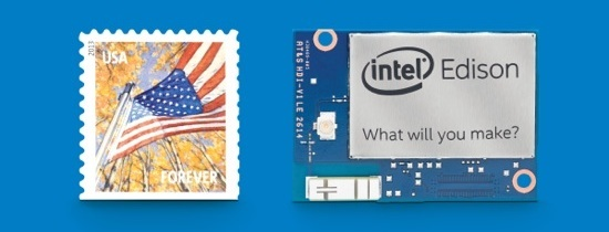 Intel Edison is almost the size of a stamp