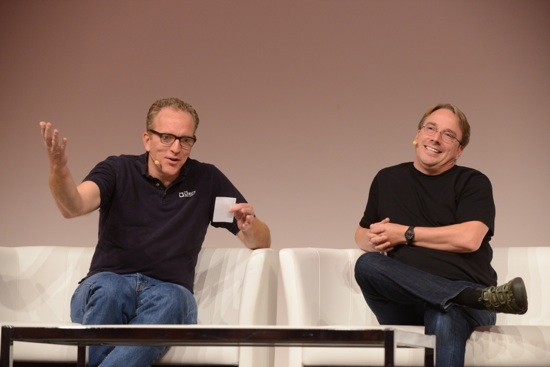 Linux creator Linus Torvalds answered questions from Dirk Hohndel, Intel's chief Linux and open source technologist.