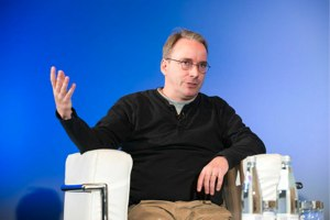 Linus Torvalds at LinuxCon Europe