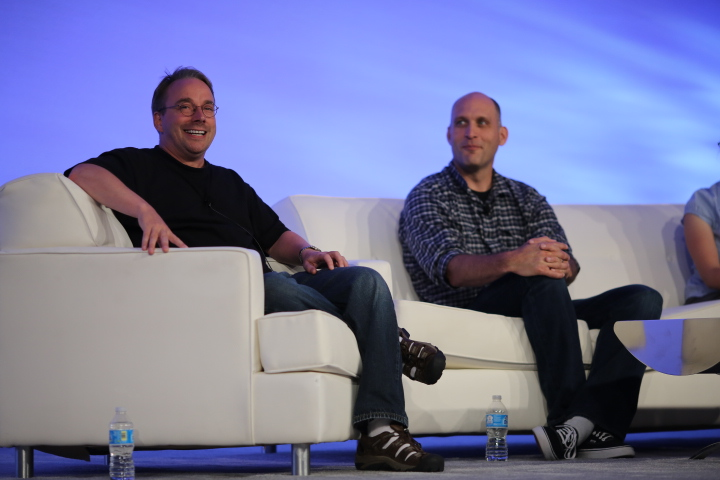 Linus Torvalds and Greg Kroah-Hartman
