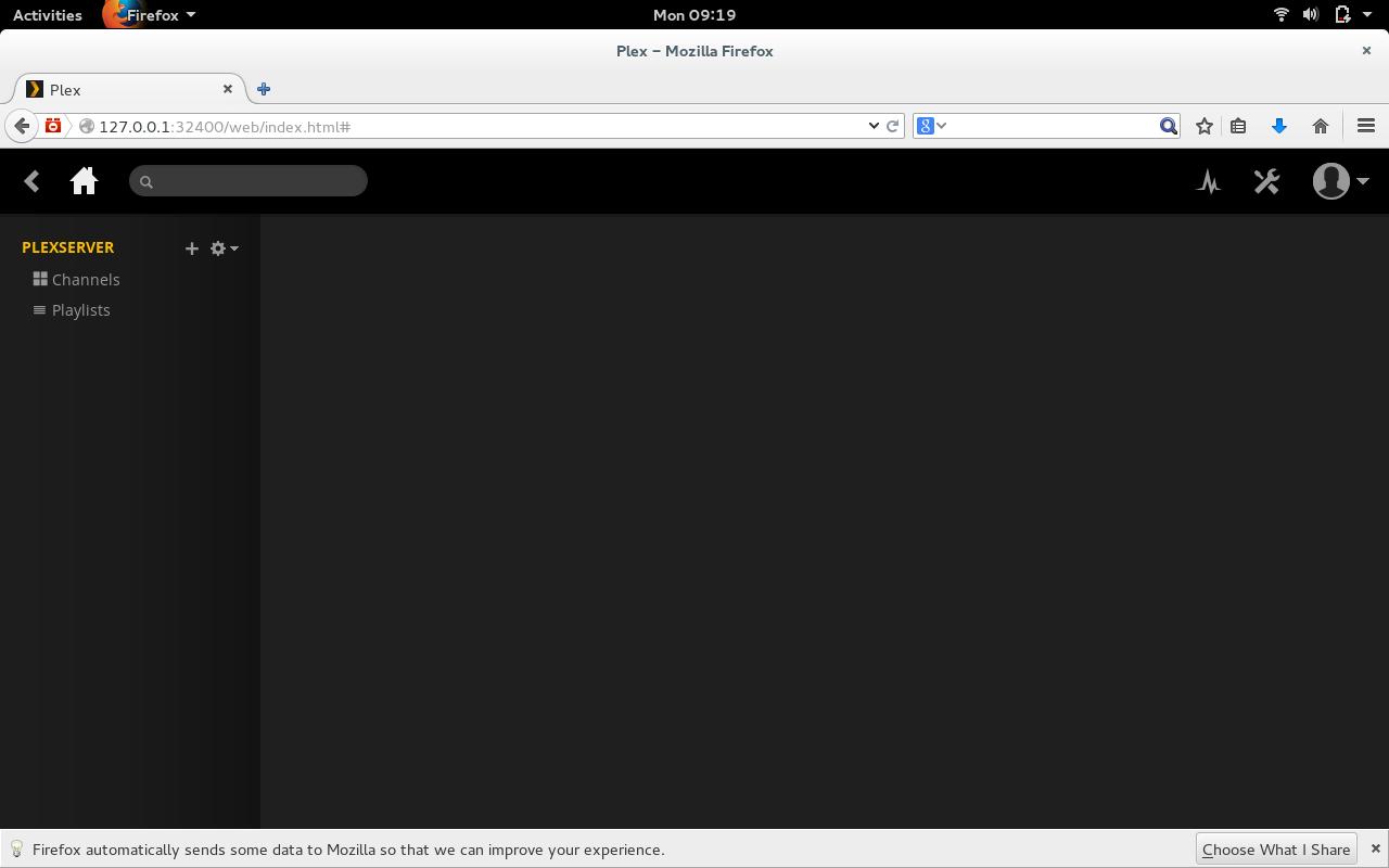 Figure 1: The Plex web interface.