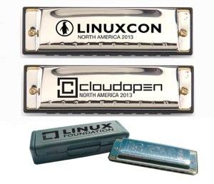LinuxCon Gift Harmonica