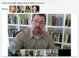 Live Linux Q&A video chat on the open cloud