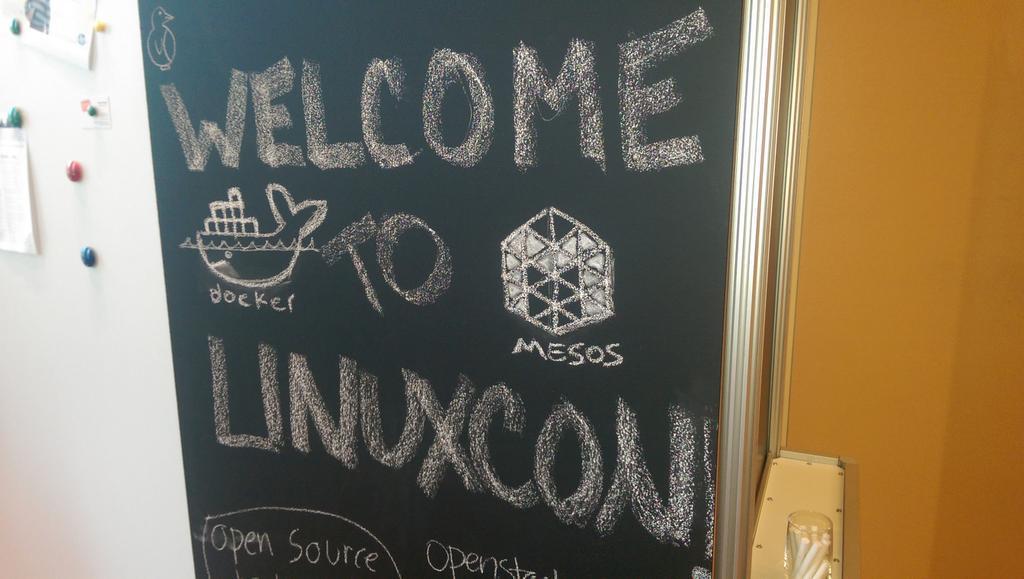 MesosCon welcome sign