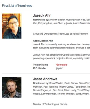 OpenStack board nominees