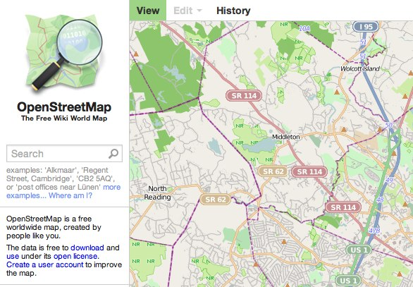 OpenStreetMap-map