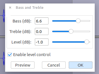 audacity add bass
