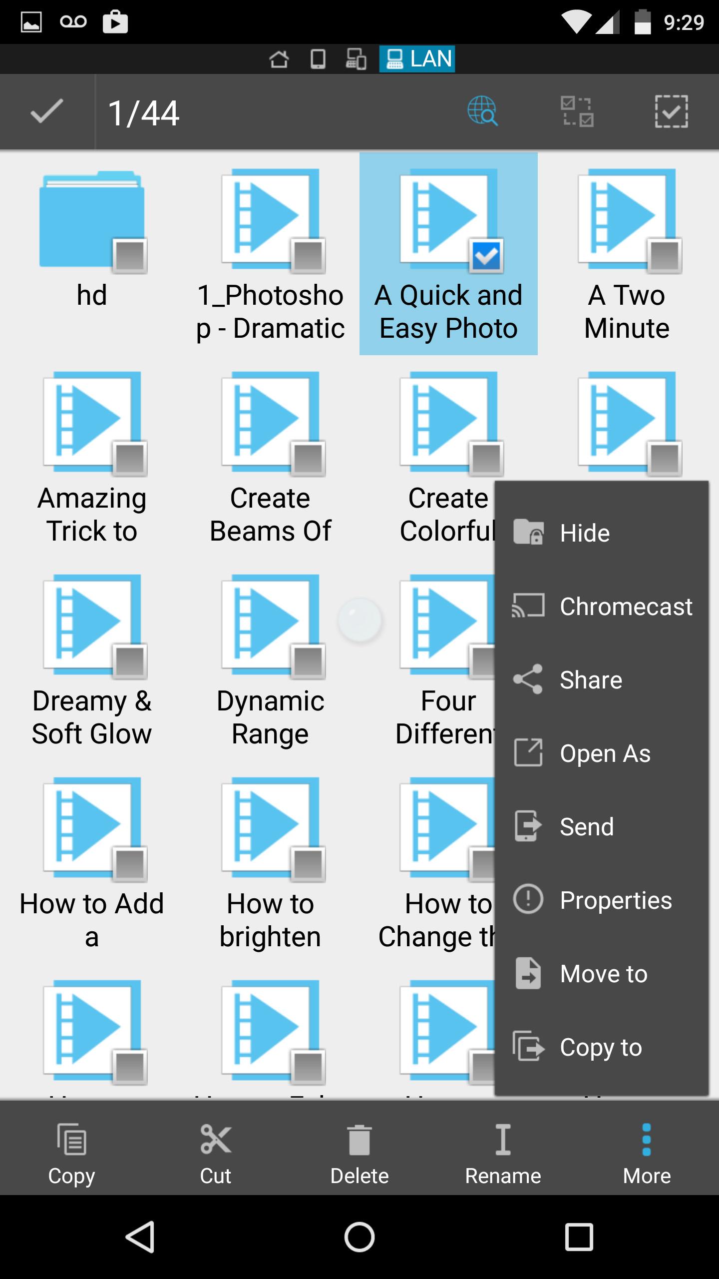 chromecast file selection