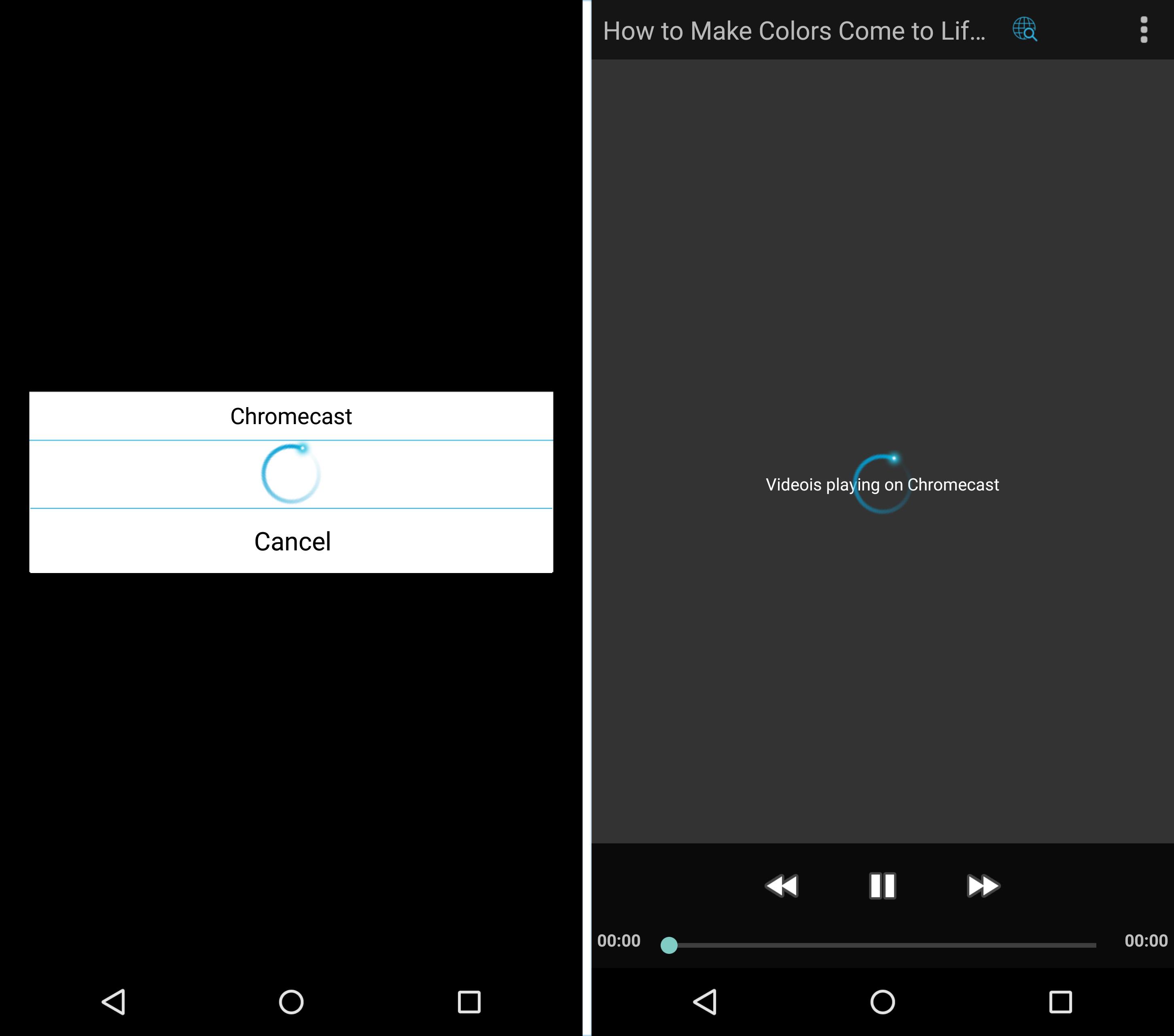 chromecast play video