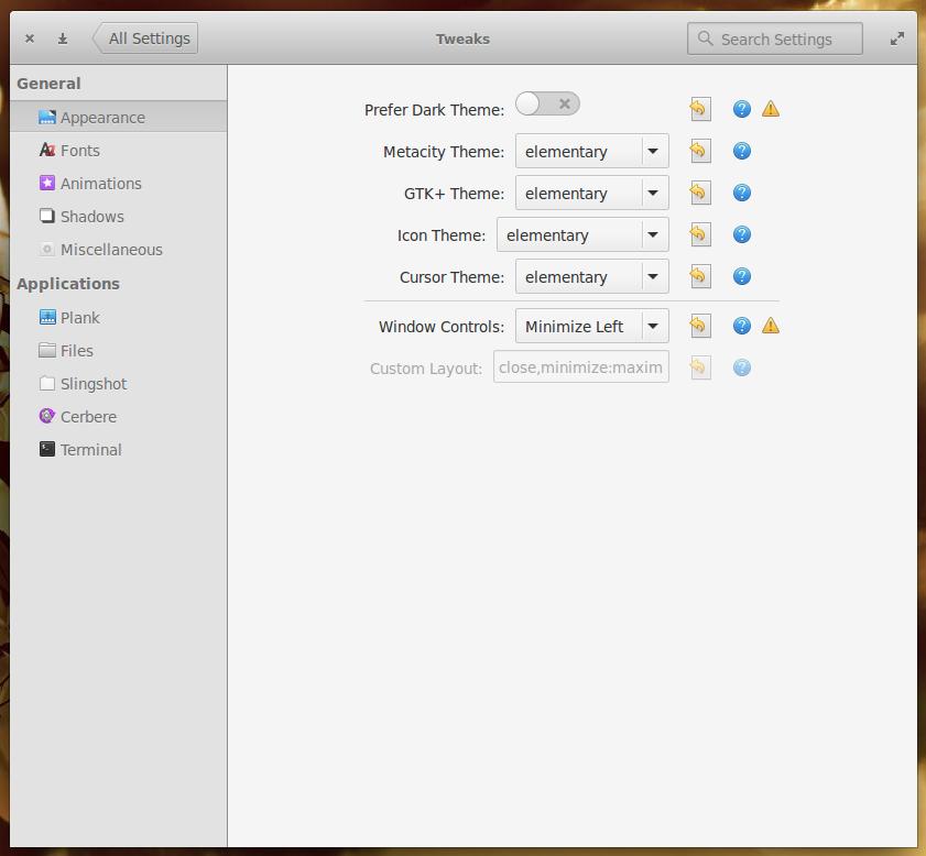 Figure 4: Elementary Tweaks brings more options to the desktop.