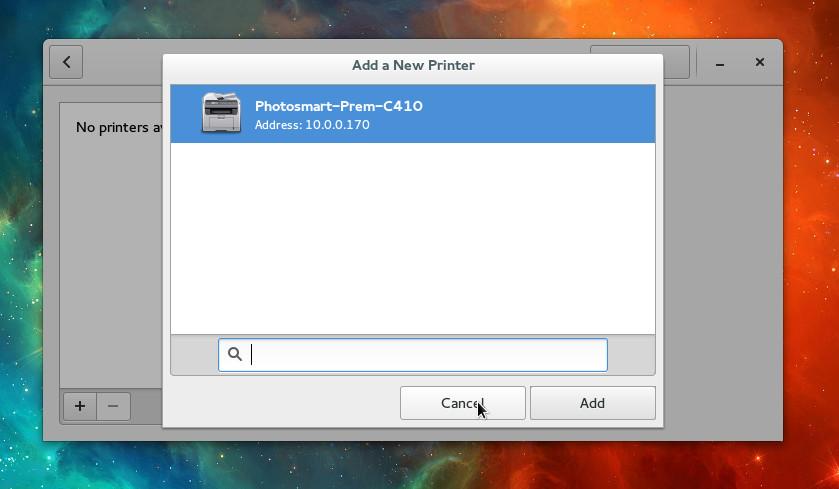 fedora printer
