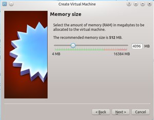 Give your new VM enough memory