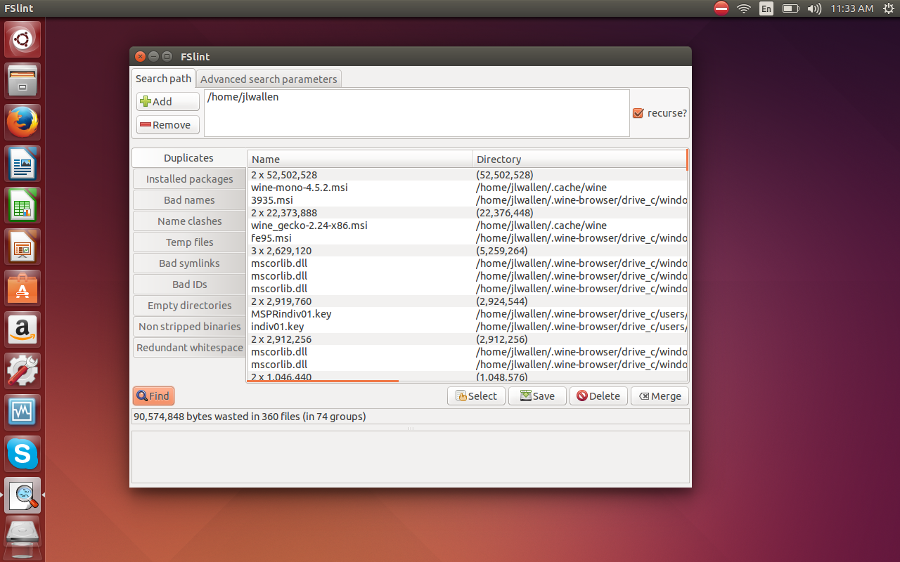 How to organize your linux file system for clutter free folders fslint 1 buycottarizona Image collections