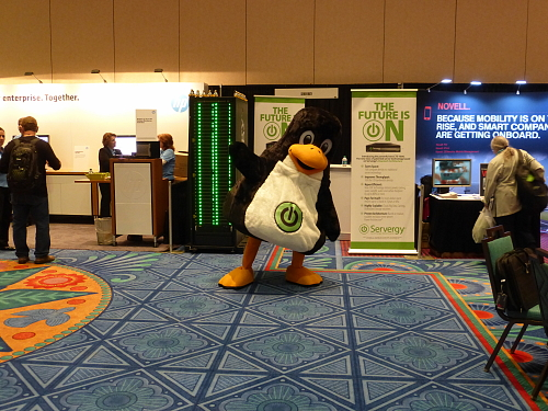 fuzzy tux at SUSECon 2013