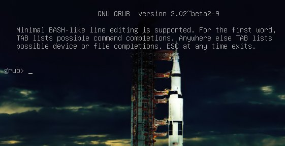 grub command shell