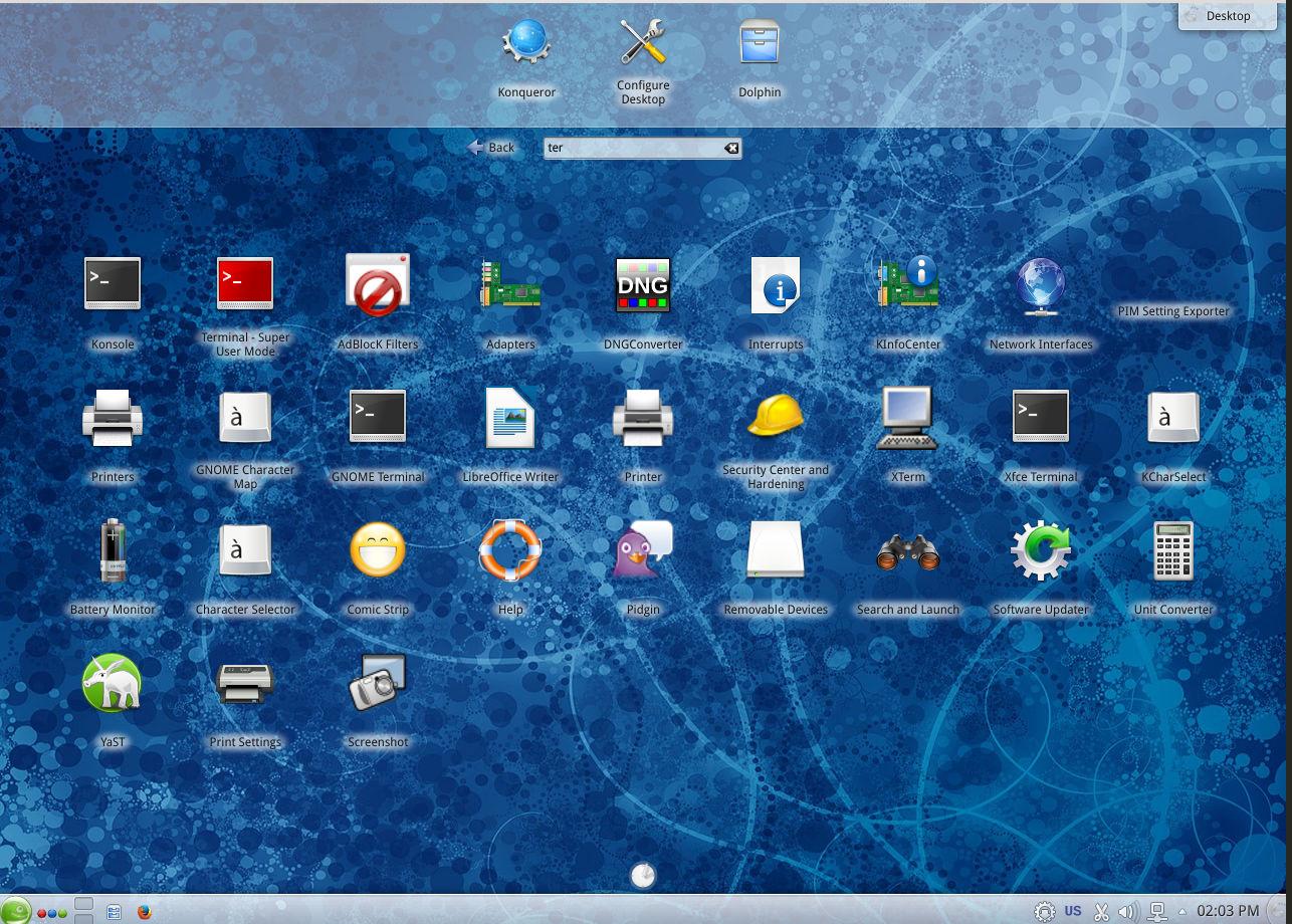 kde desktop layout