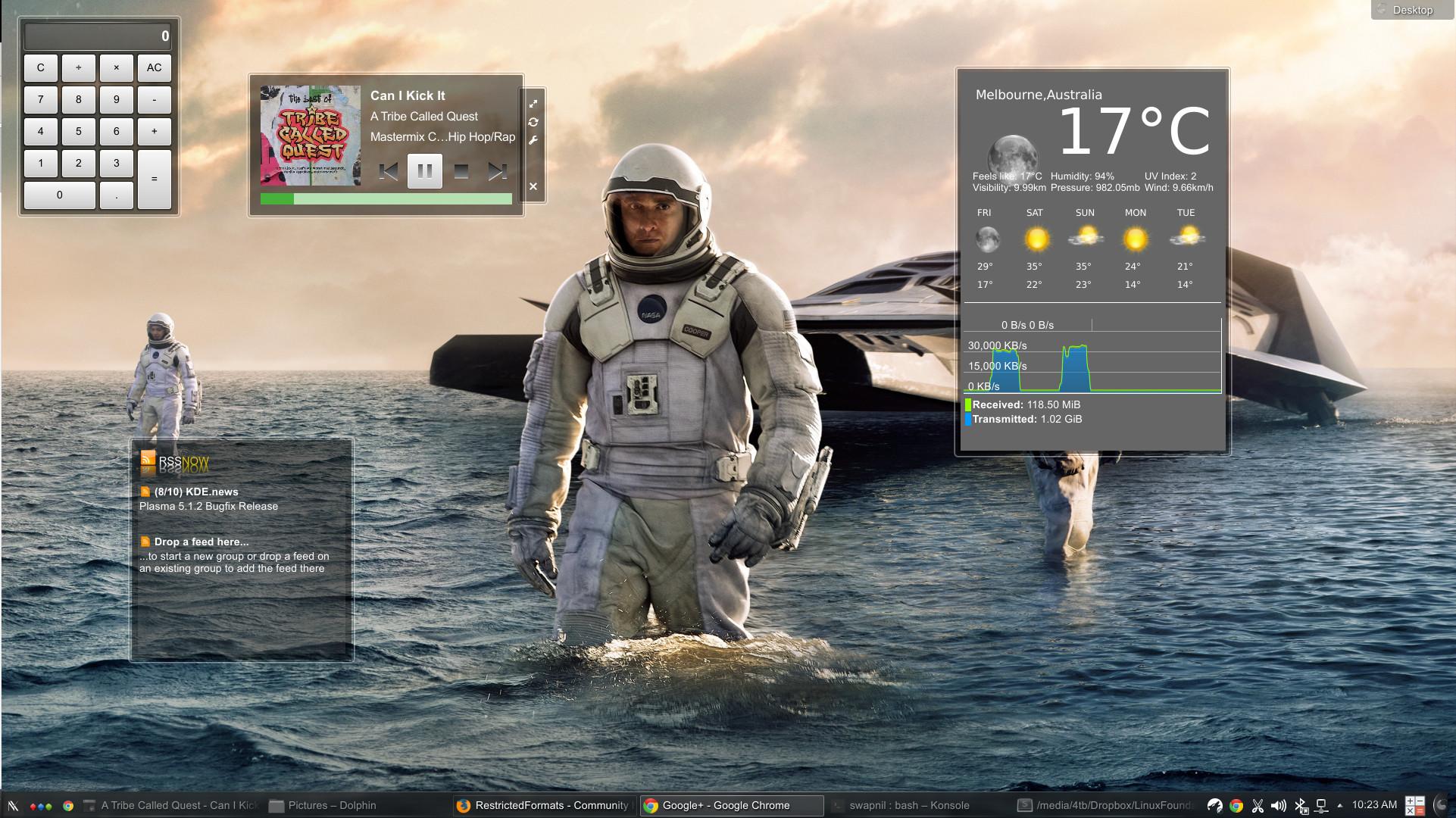kde desktop widget