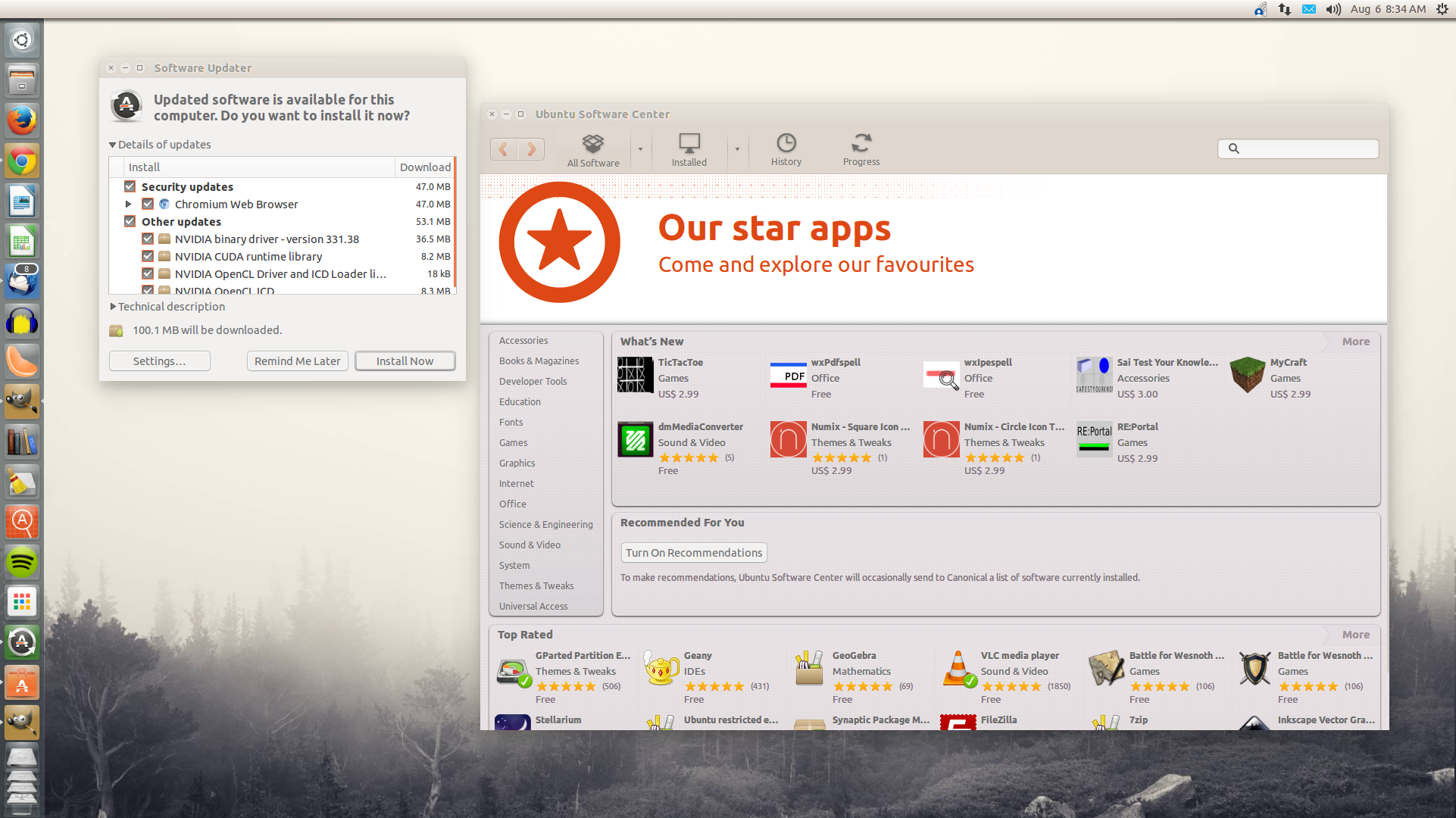 Ubuntu software center screenshot