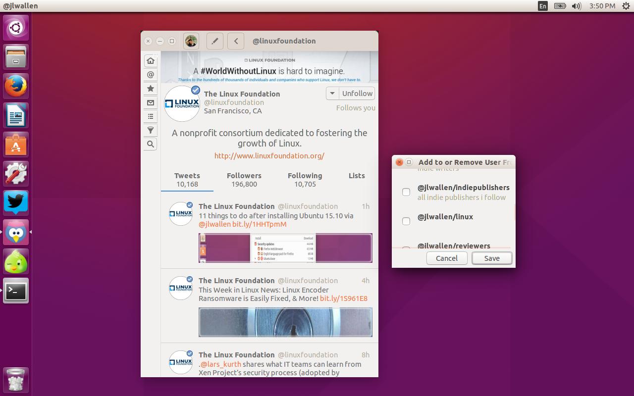 twitter Corebird client