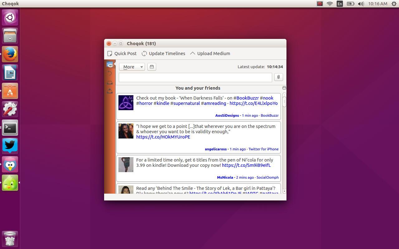 twitter choqok client on linux