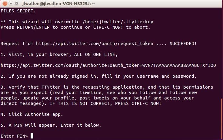 twitter command line client