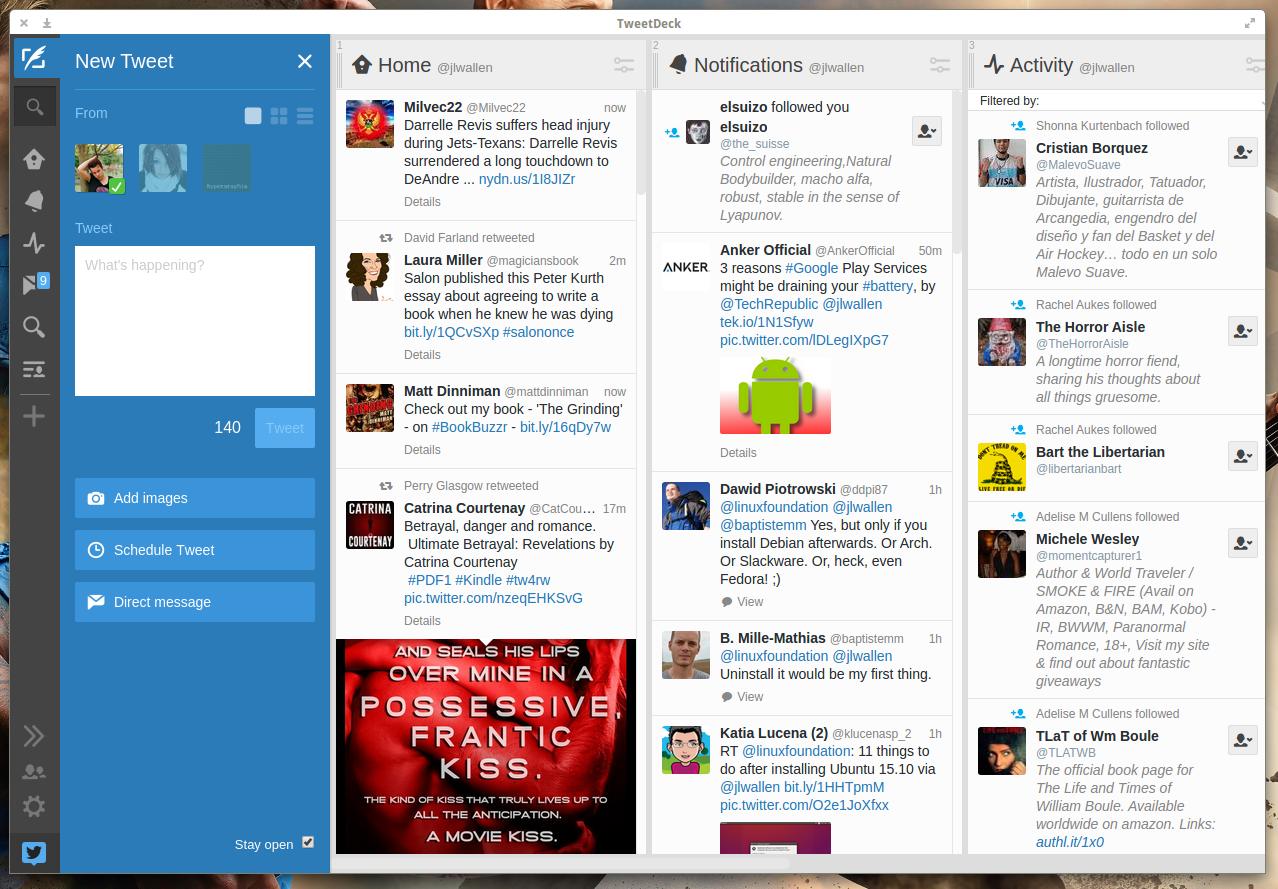 twitter tweetdeck linux