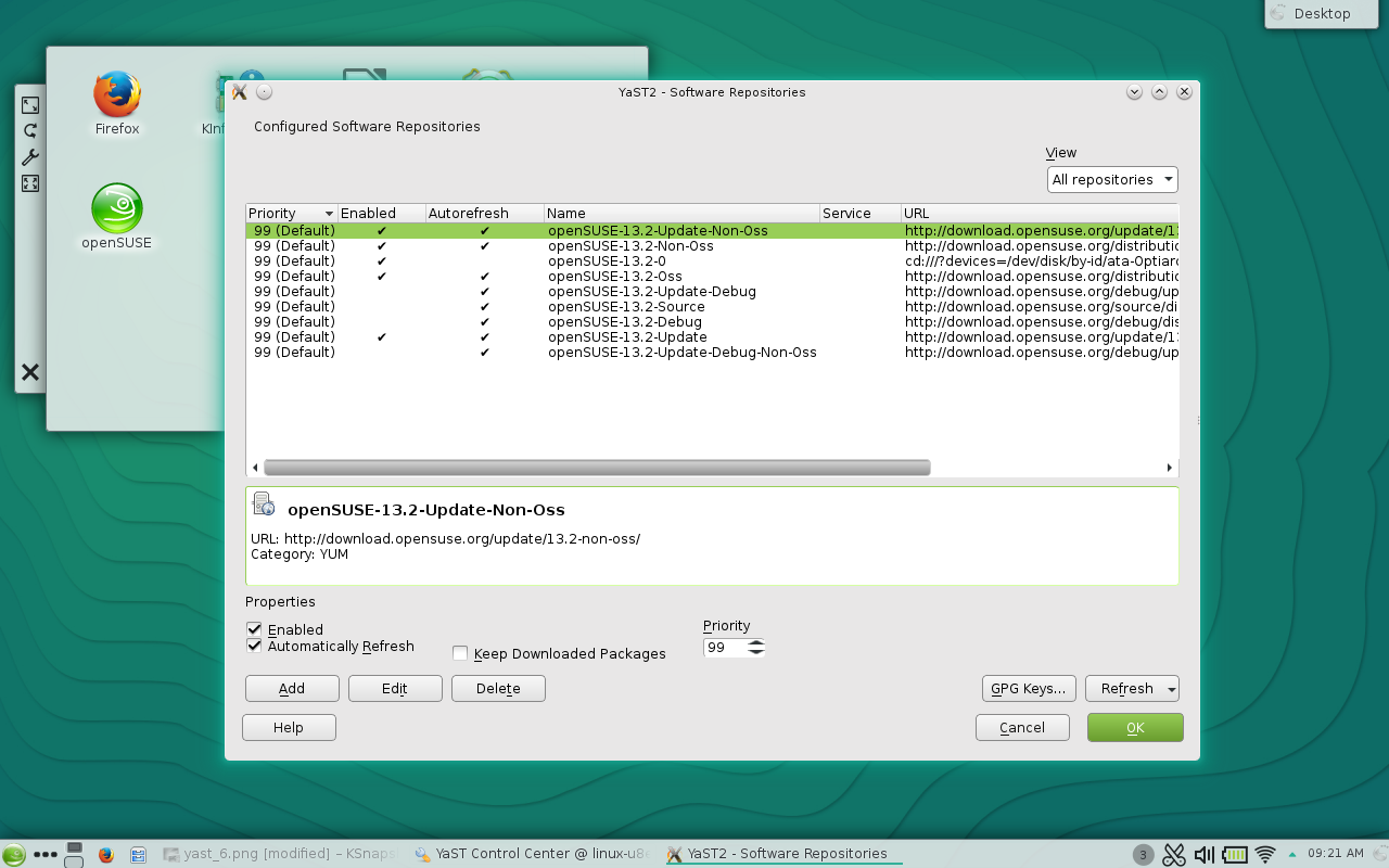 Figure 6: Adding a new software repository.