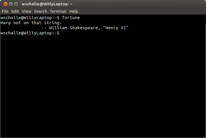 A terminal in Linux, image credit goes to william @ Linoxide