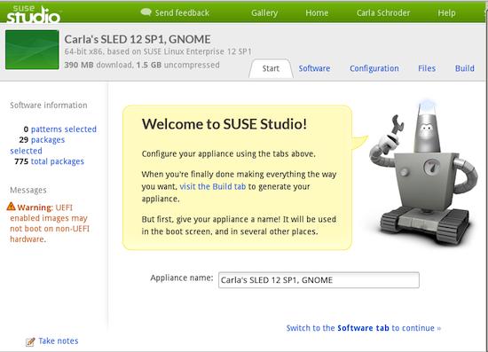 Building Custom Appliances with SUSE Studio - Linux com