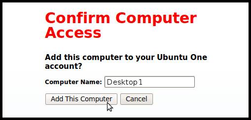 Authorize your computer