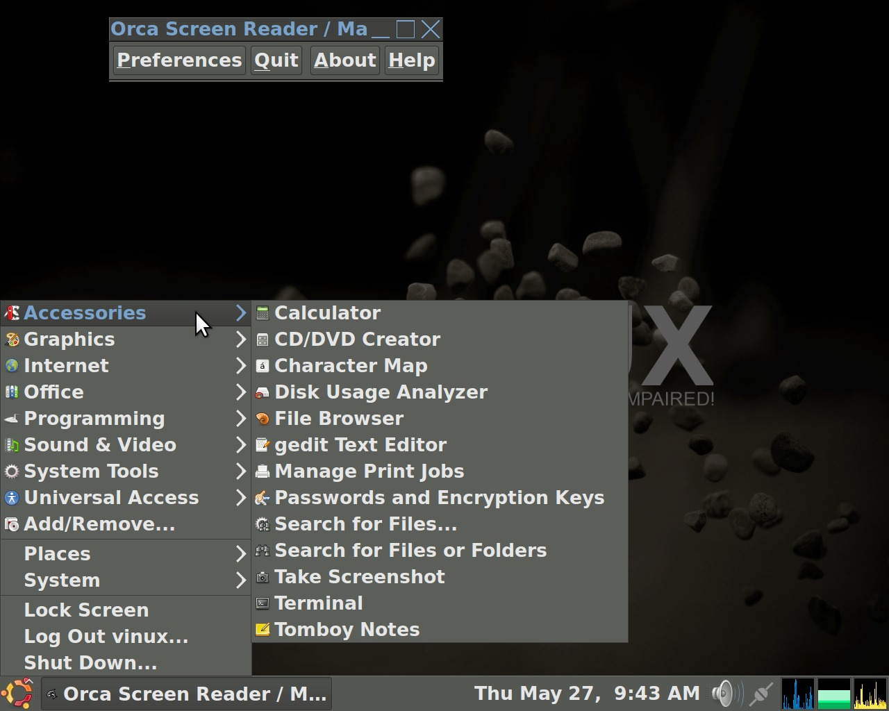 Vinux A Linux Distribution For People With Visual Impairment