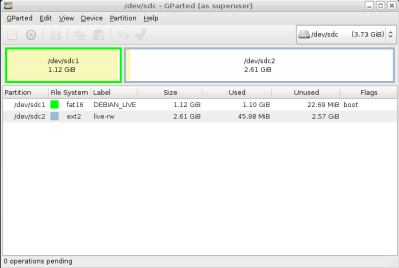 Creating a Debian Live USB Flash Drive with Persistence for