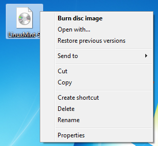 Burning an ISO Image in Windows 7