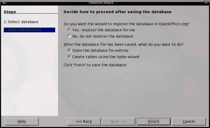 Database Wizard Step 2