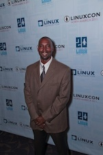 Derald at LinuxCon 20th Anniversary Gala