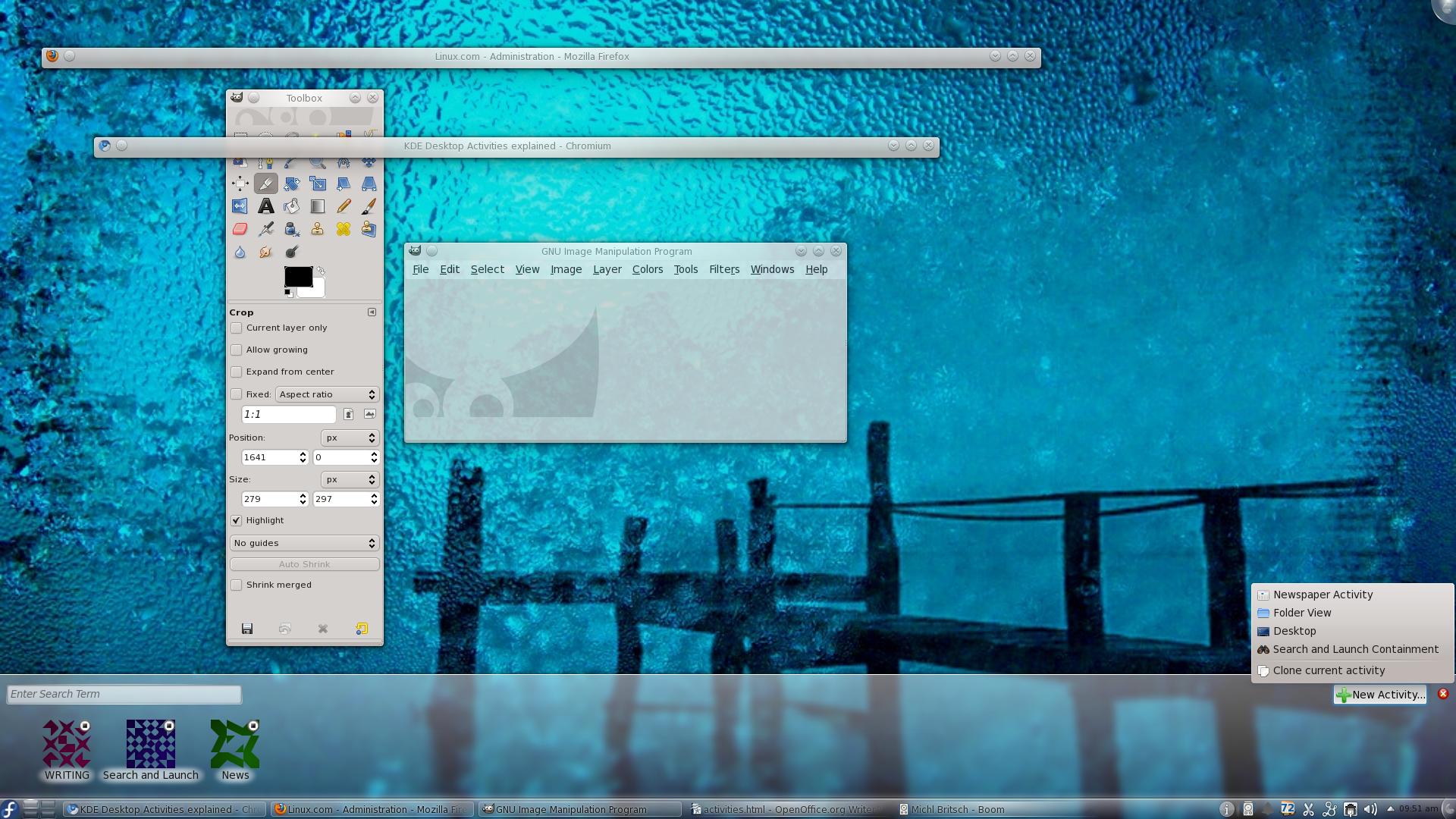 Desktop Activities Panel