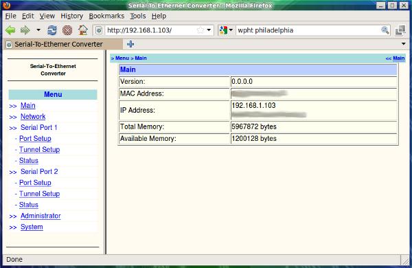 Xport web interface