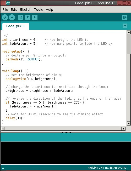 Figure 2: A sketch loaded into the Arduino IDE.