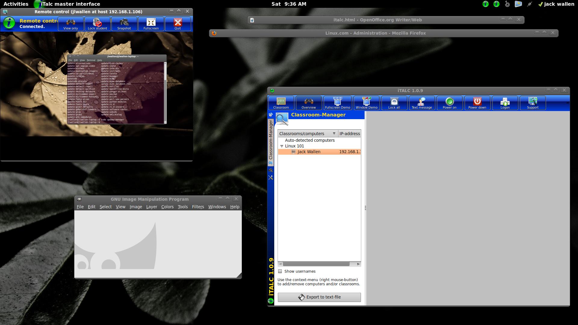 iTalc Window Mode