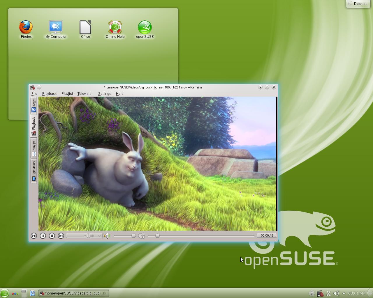 openSUSE 12.1 KDE Desktop